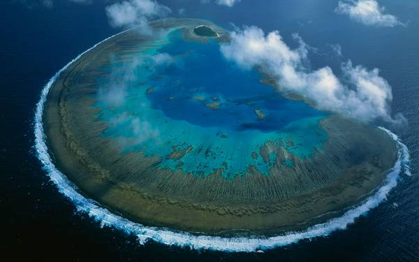 Lady Musgrave Island coral atoll in Capricorn-Bunker group, Great Barrier Reef Marine Park, World Heritage Site, Queensland, Australia
