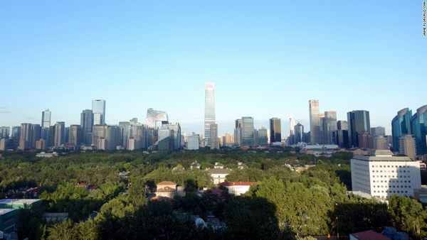 skyline of Beijing in recent clear days.